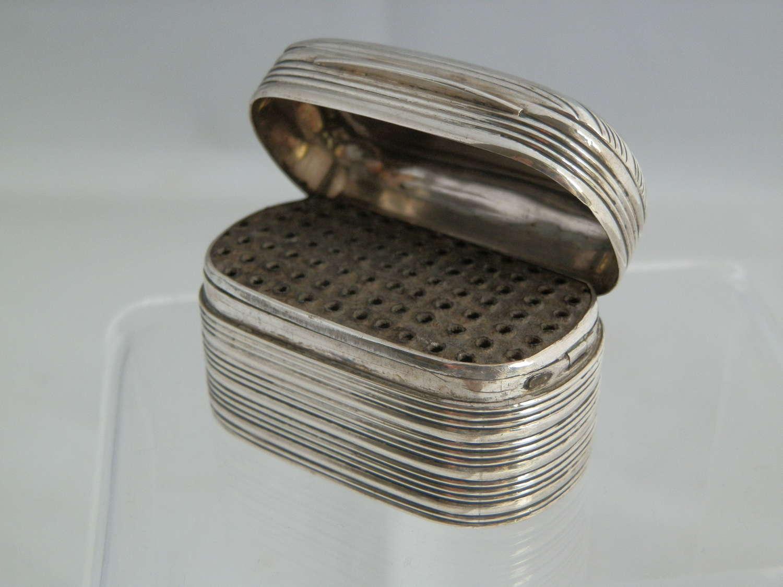 A scarce George IV silver nutmeg grater, Joseph Taylor 1821