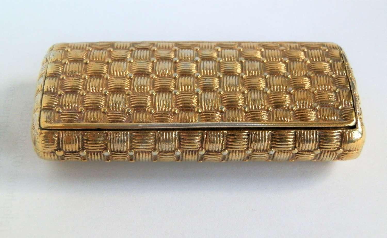 A scarce George III silver gilt pocket snuff box, 1803