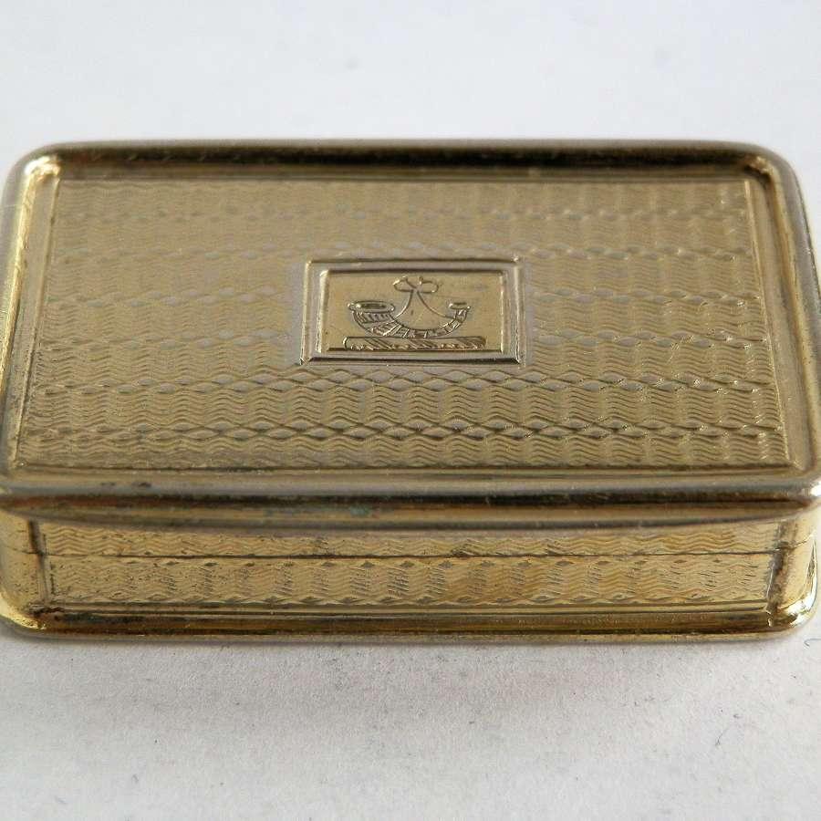 A fine silver gilt Vinaigrette by Nathaniel Mills, 1836