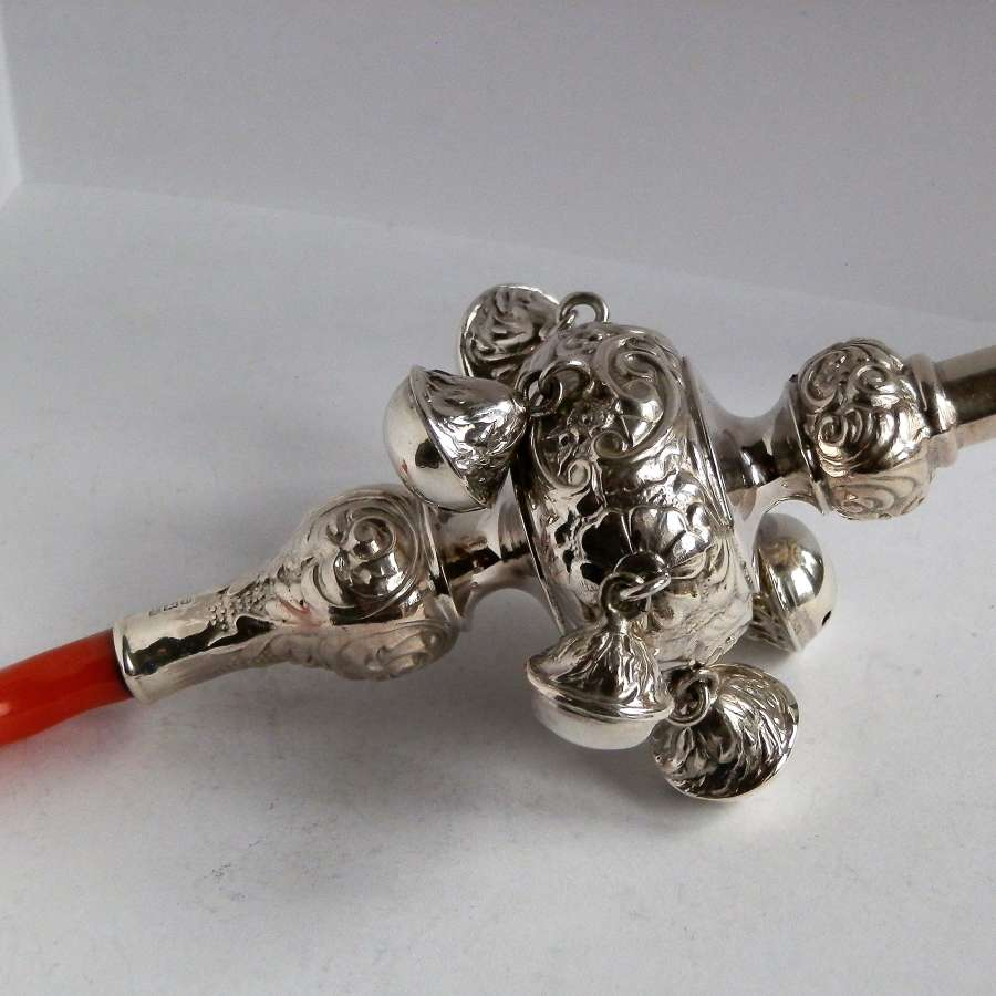 Silver babies rattle, Crisford and Norris, 1926
