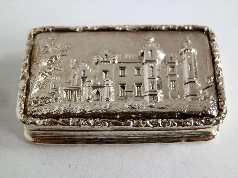 William IV silver castle top vinaigrette, Taylor & Perry 1838