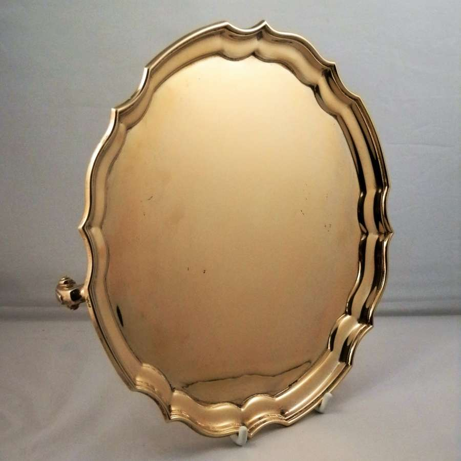 Silver gilt salver, Sheffield 1938