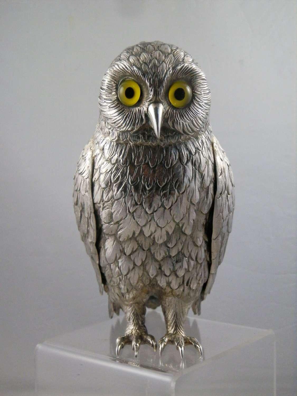 Silver Owl ornament, London, 1968