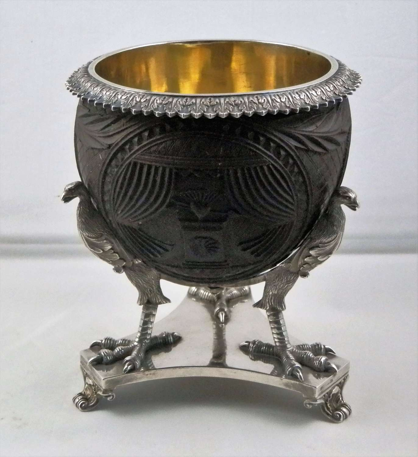 George IV coconut and silver cup. London 1827