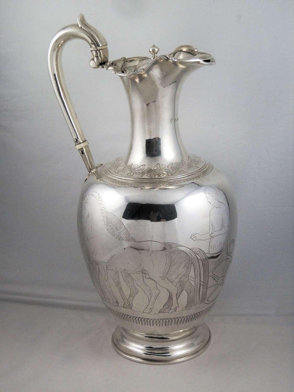 Scottish silver wine decanter, Edinburgh 1840