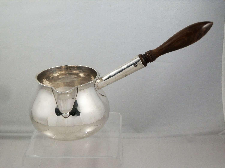 George II silver brandy pan, London 1748