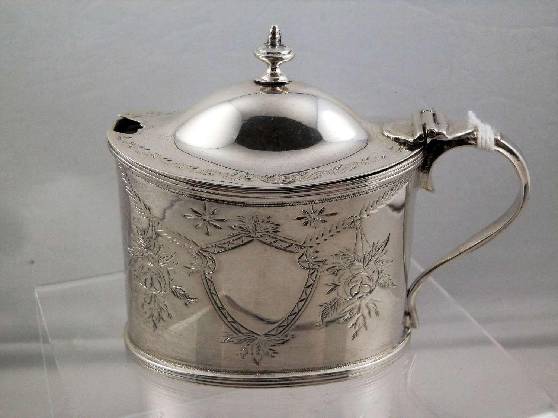 Chester silver mustard pot, Nathan & Hayes 1899