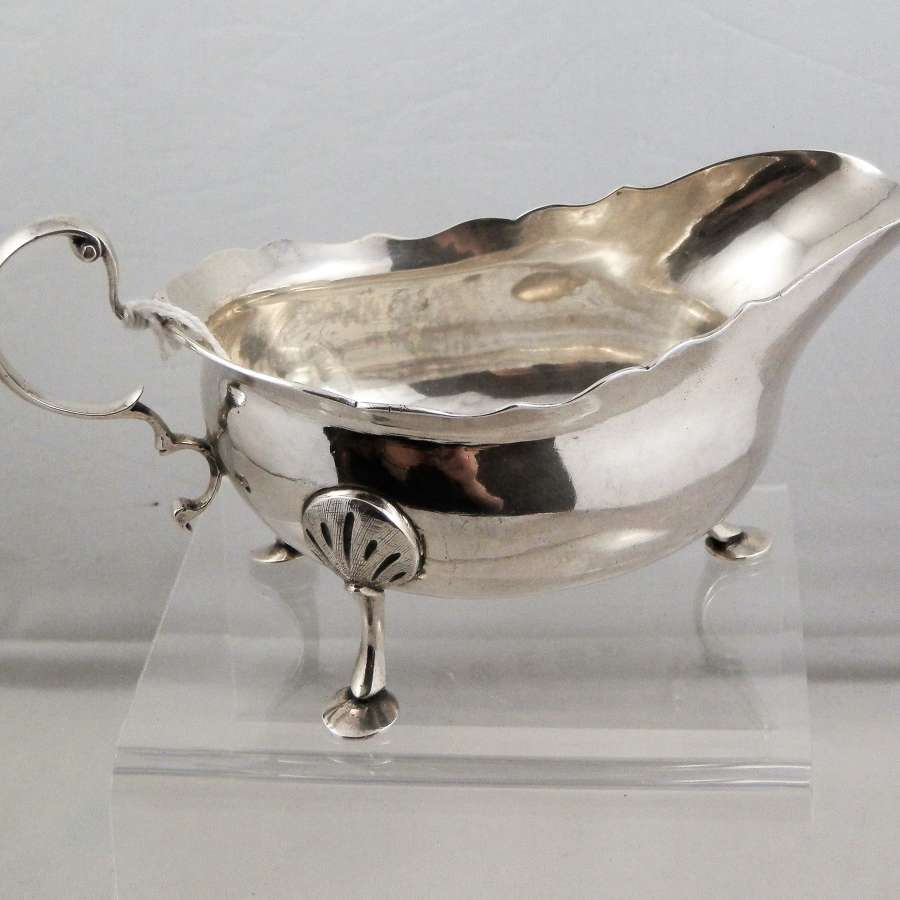 Newcastle silver sauce boat, James Crawford, 1772