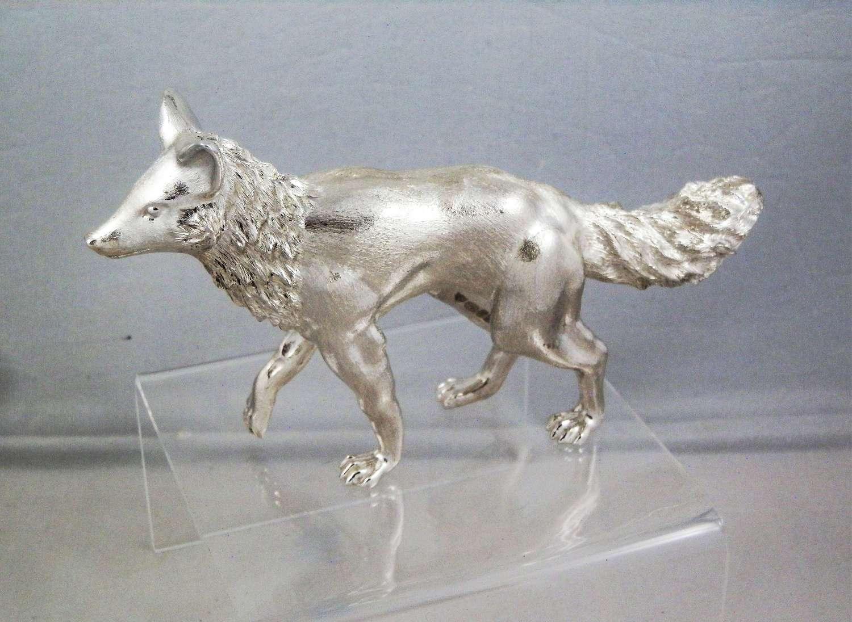 Scottish Silver model of a fox, Edinburgh 2019