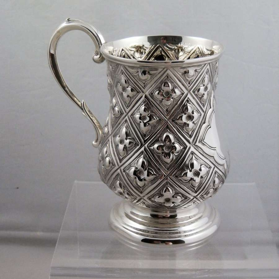 Victorian silver christening mug, Sheffield 1869
