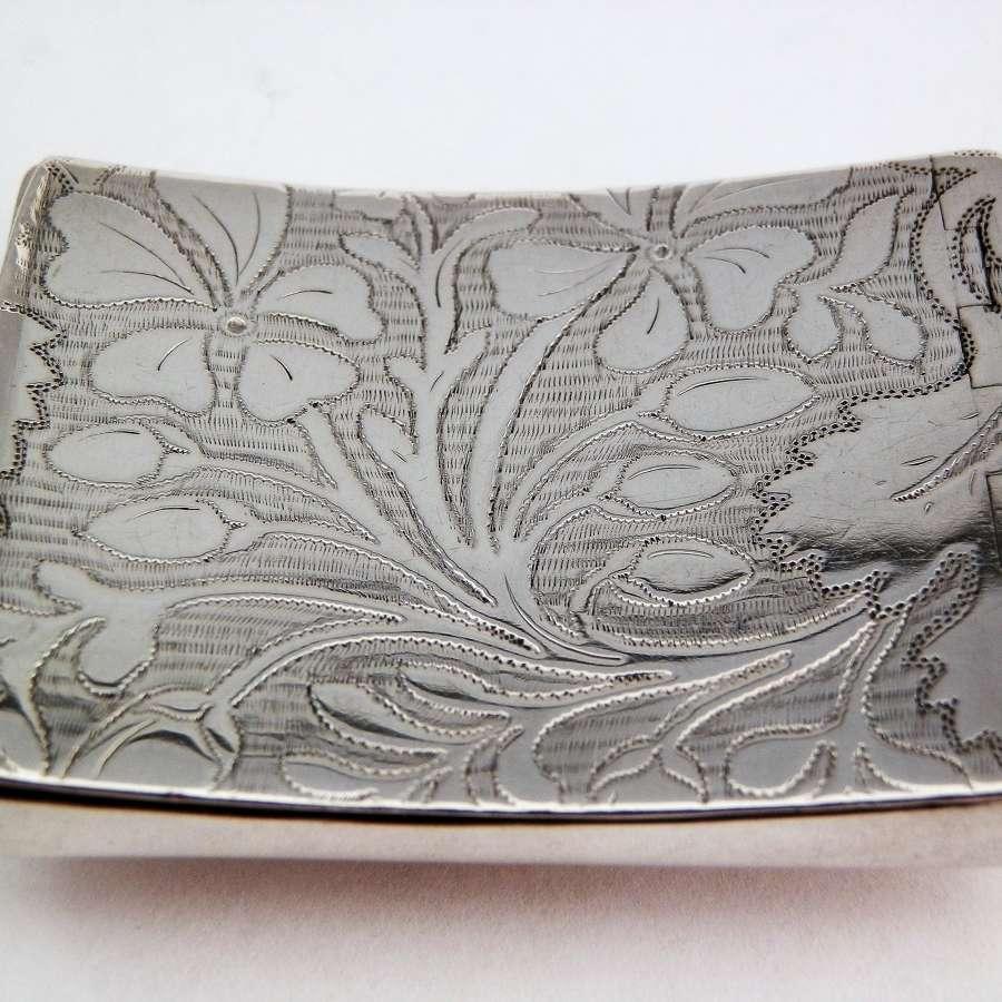 George III silver snuff box, Pemberton 1808