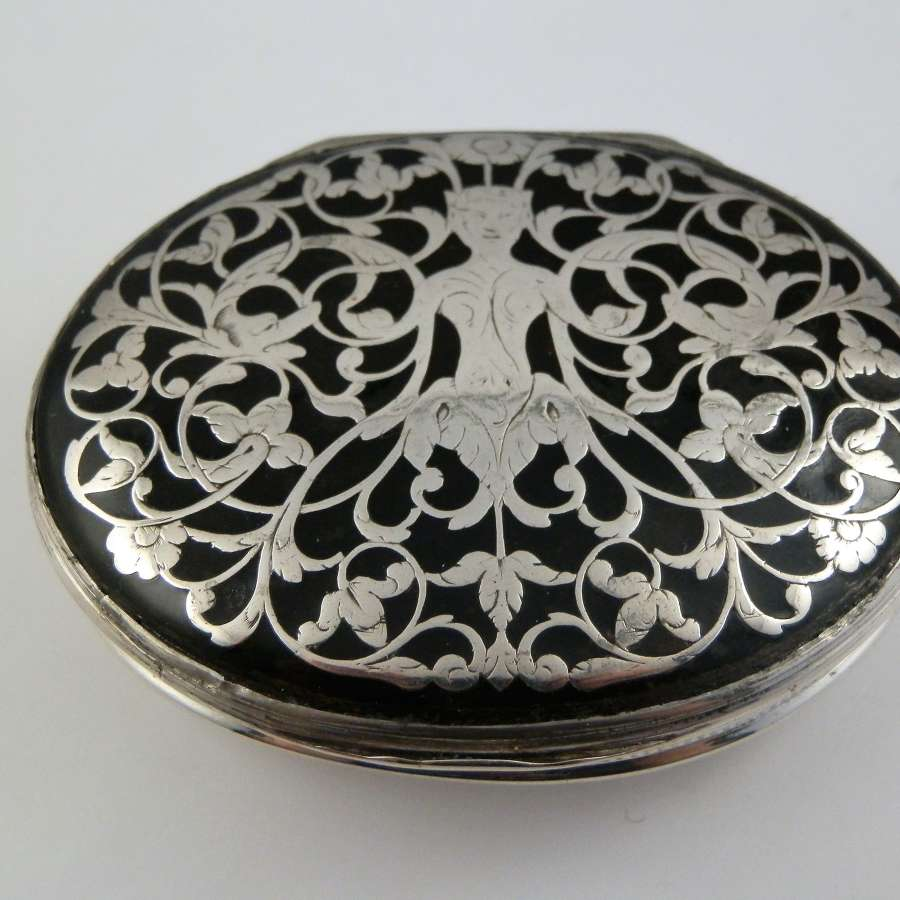 George II silver and Tortoise shell snuff box, c.1750