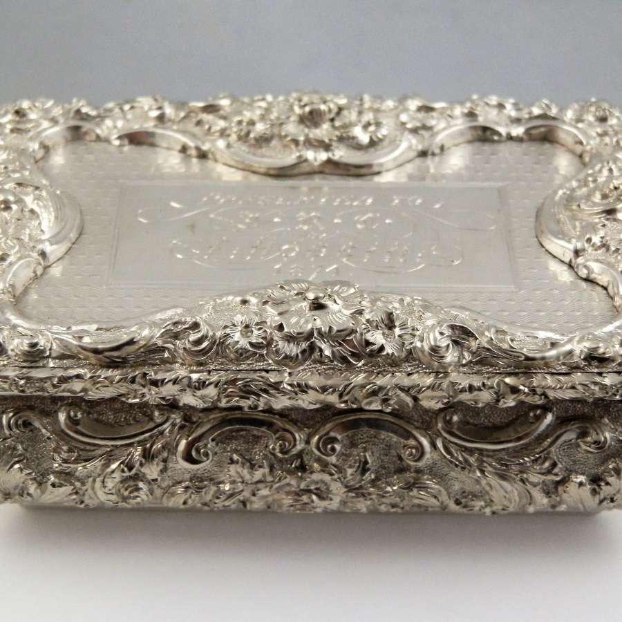 William IV silver snuff box, Birmingham 1835