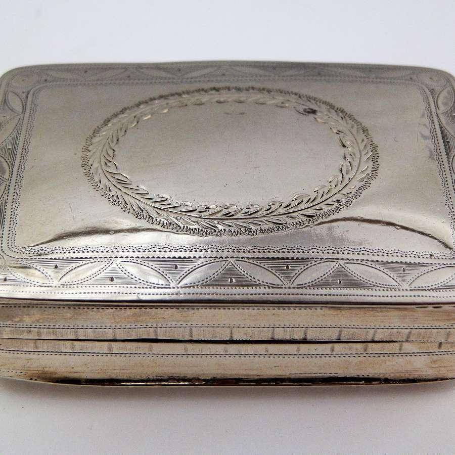 Scottish provincial silver snuff box, Aberdeen, c.1792