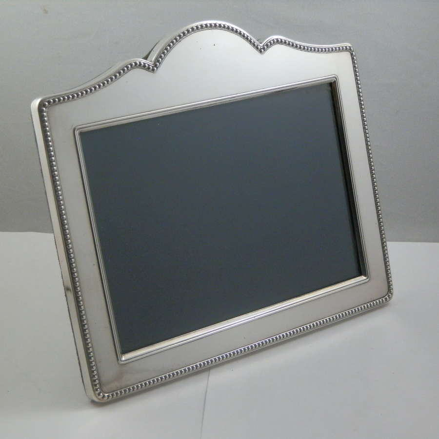 Silver frame with glass and velvet back, Sheffield 1994