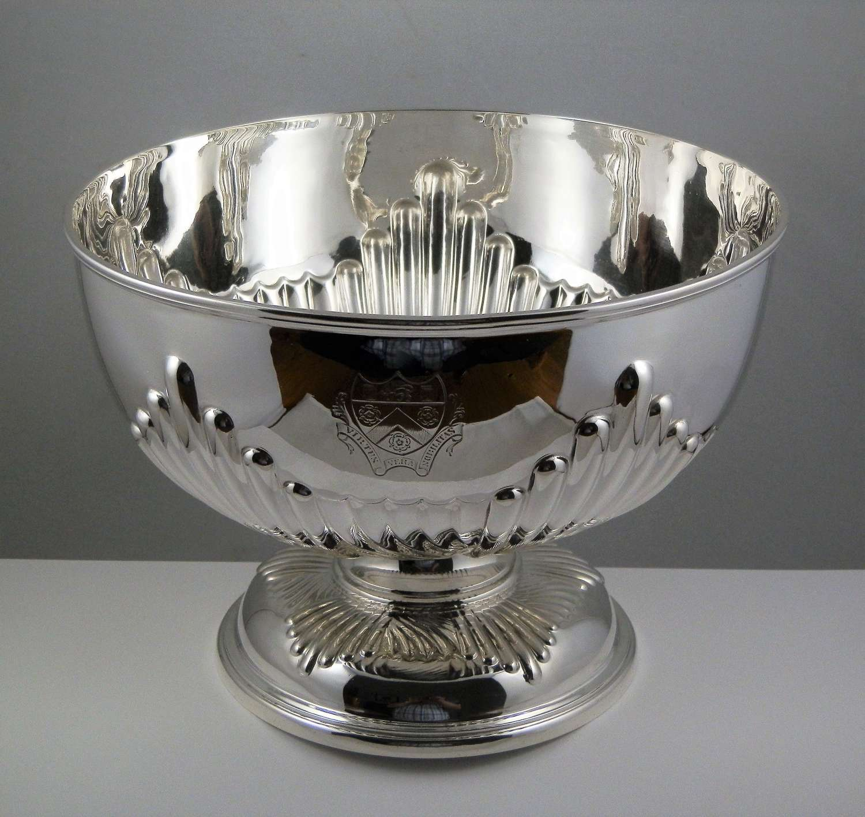 Scottish Victorian silver punch bowl, Edinburgh 1900
