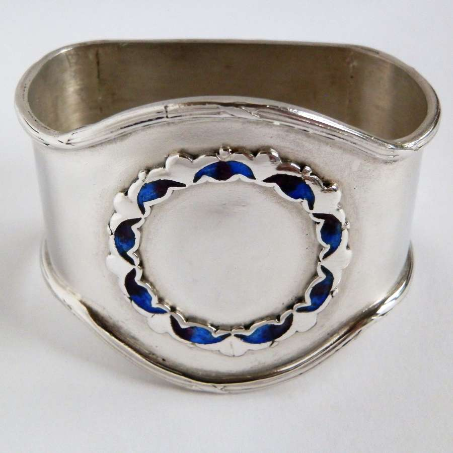 Edwardian Liberty & Co silver napkin ring, Birmingham 1910