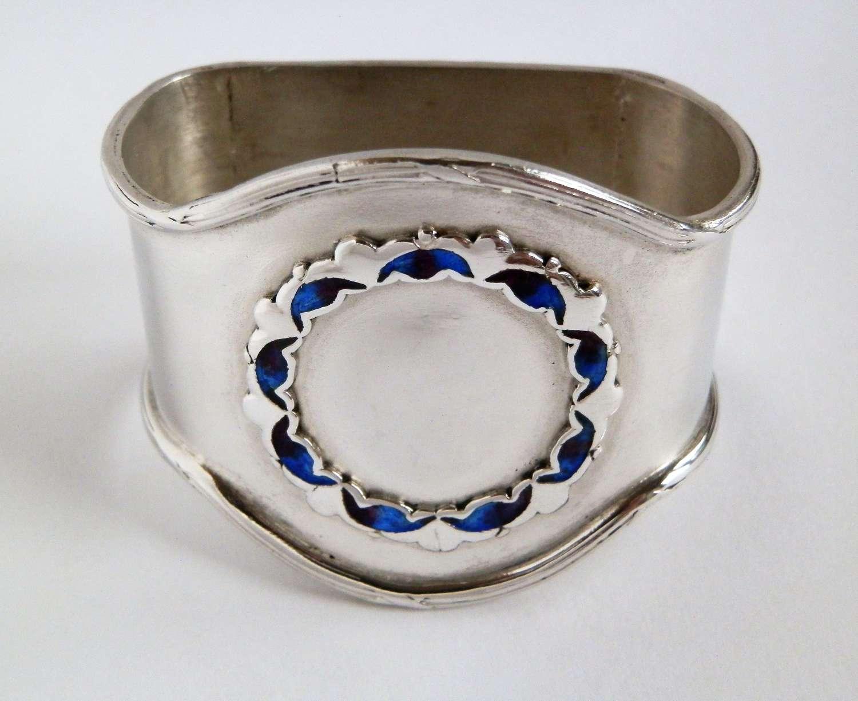 Edwardian Liberty & Co silver napkin ring, Birmingham 1910