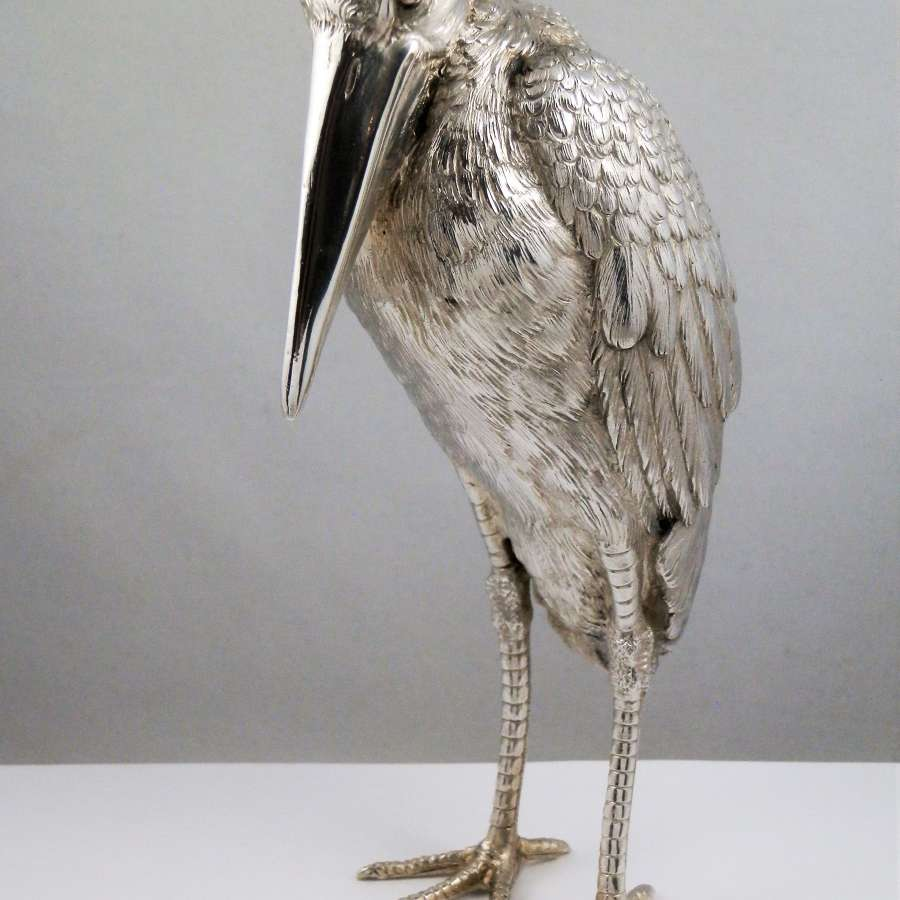 Nereshiemer silver imported Maribau stork. London 1913