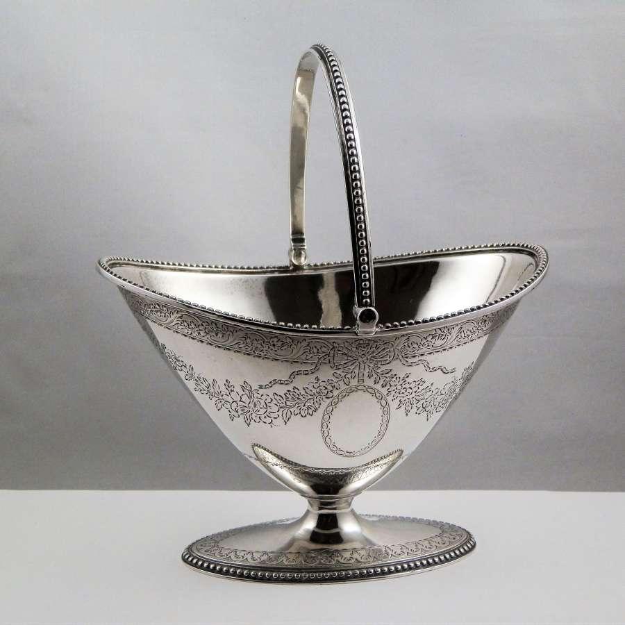 George III Scottish silver sugar bowl, 1783