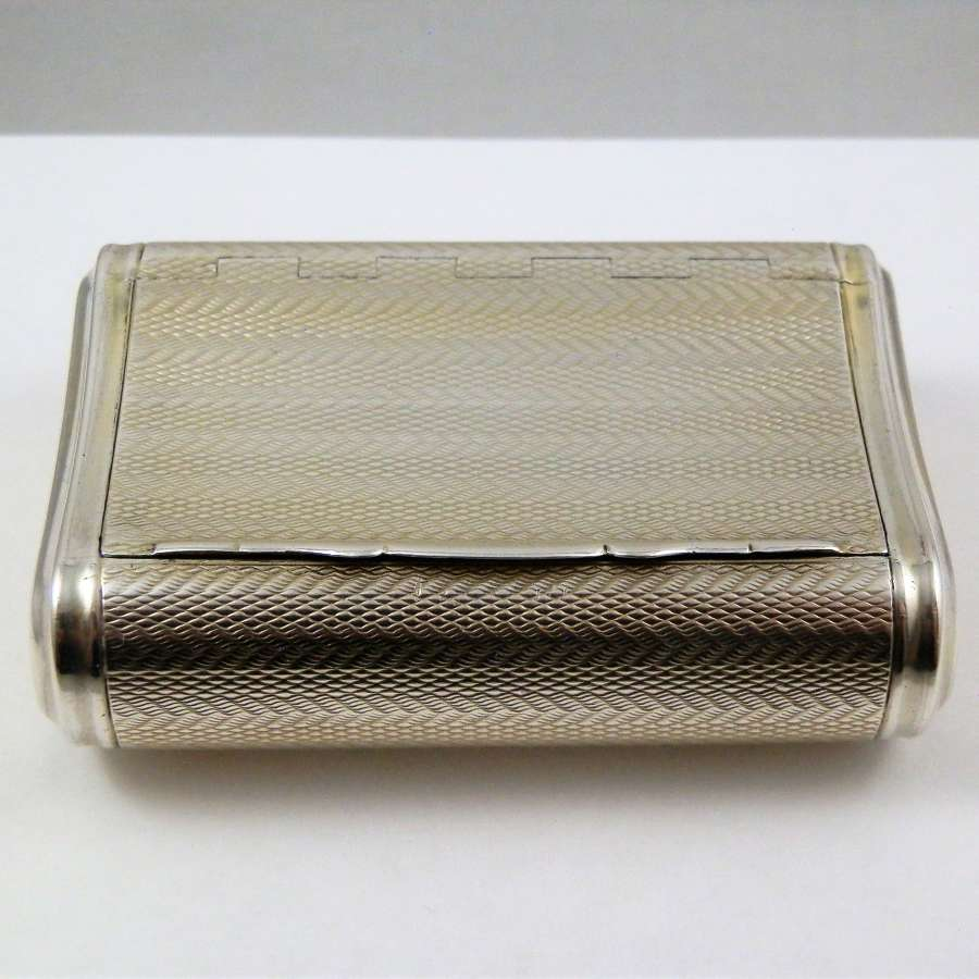 George III silver gilt pocket snuff box, 1813