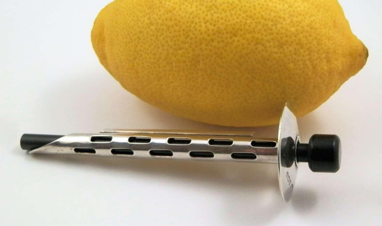 A rare art deco silver lemon juicer, Birmingham 1930