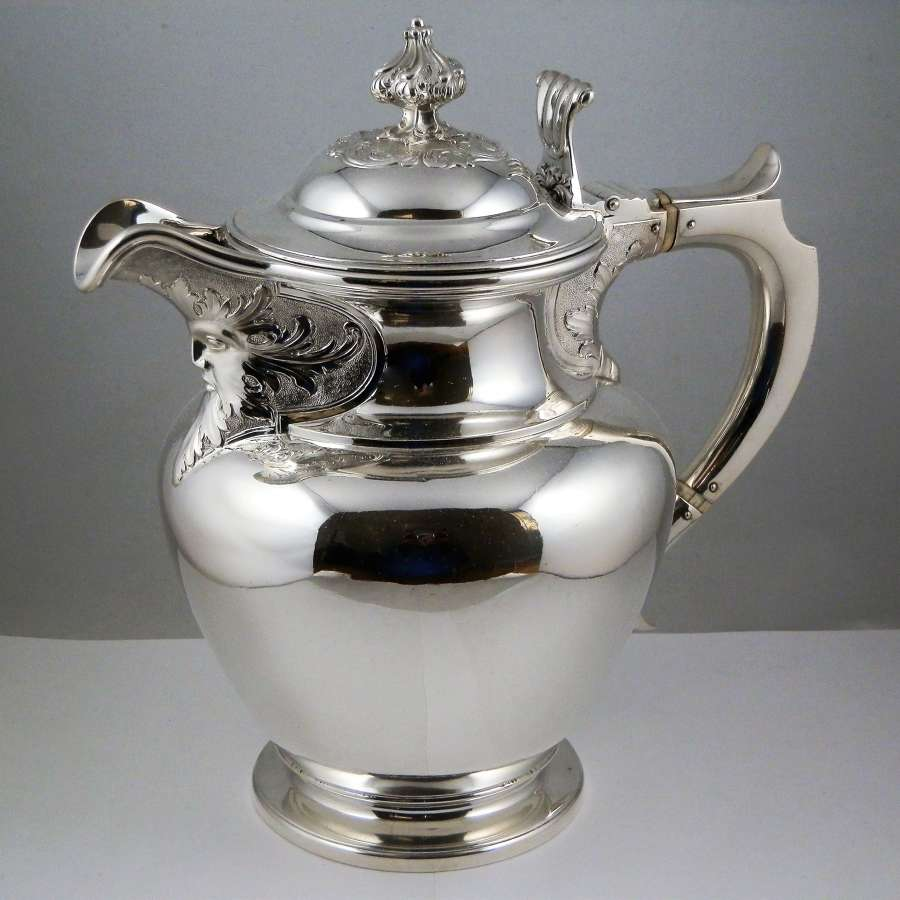 William IV very large Scottish Silver beer jug. 1836