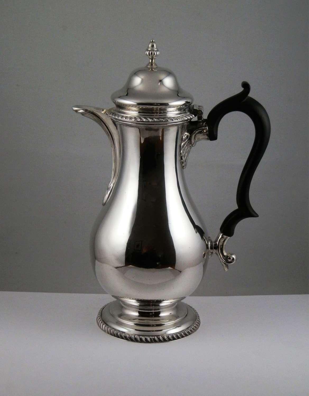 George V silver Coffee pot, Birmingham 1912