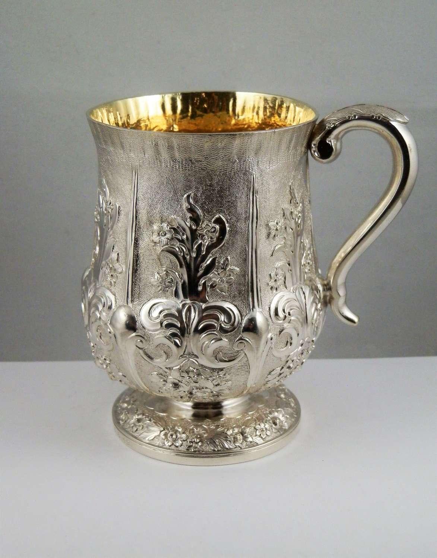 William IV Scottish silver tankard, Glasgow 1830