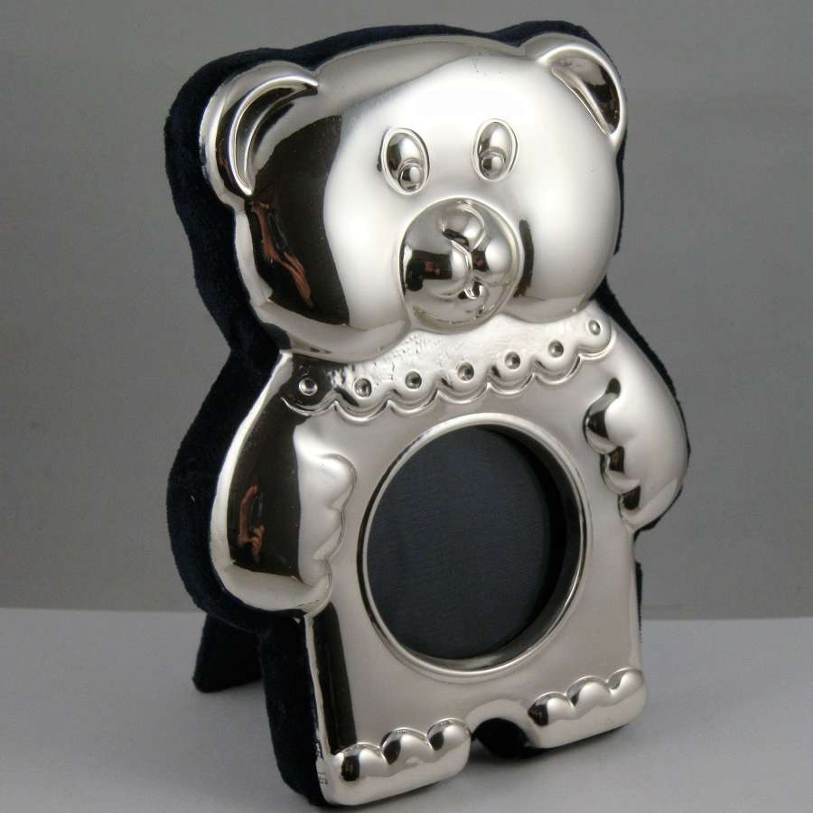 Teddy bear silver frame, Millennium mark, 2000