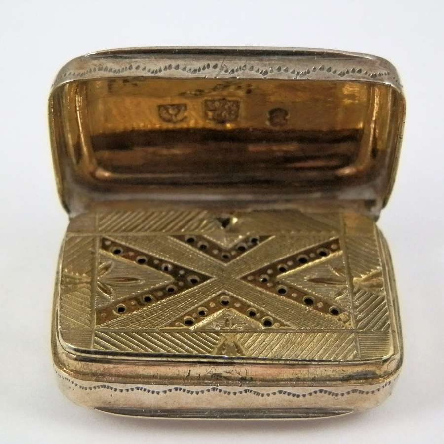 Scottish silver vinaigrette, Edinburgh c.1792