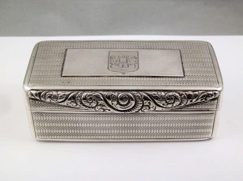 William IV silver table snuff box, Birmingham 1829