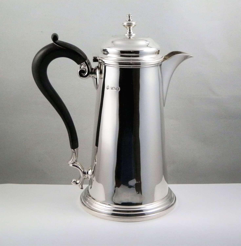 Georgian style silver coffee pot, Sheffield 1912