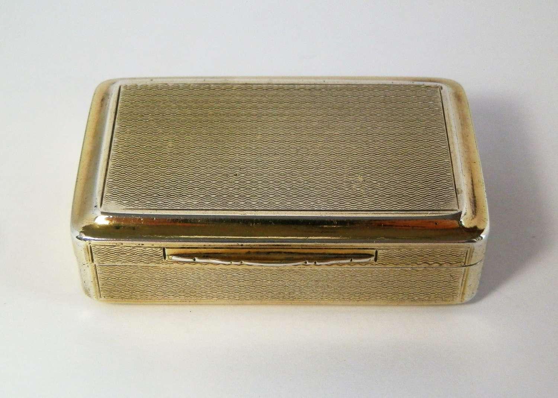George III silver gilt snuff box, Joseph Wilmore 1812