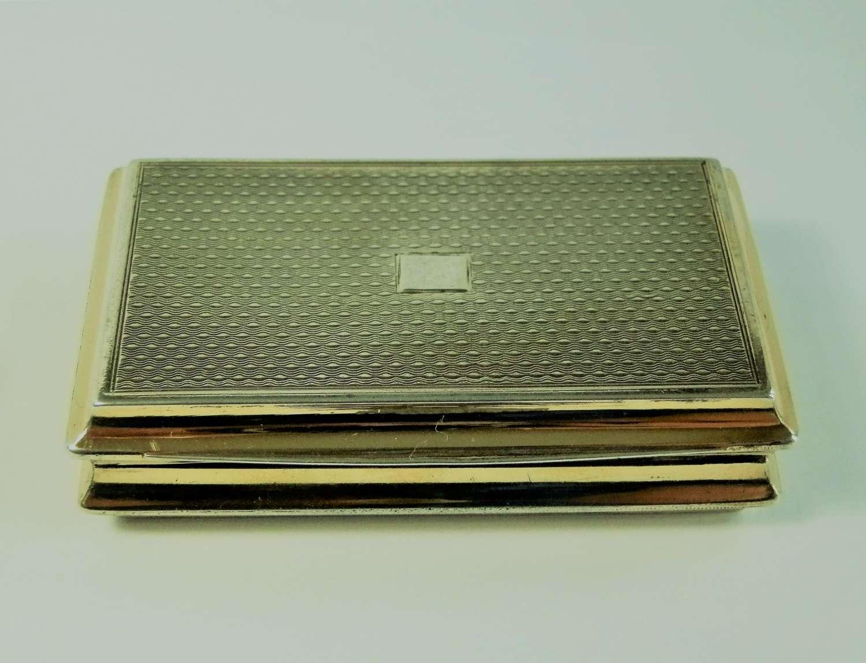 George III silver gilt table snuff box, Mathew Linwood 1812