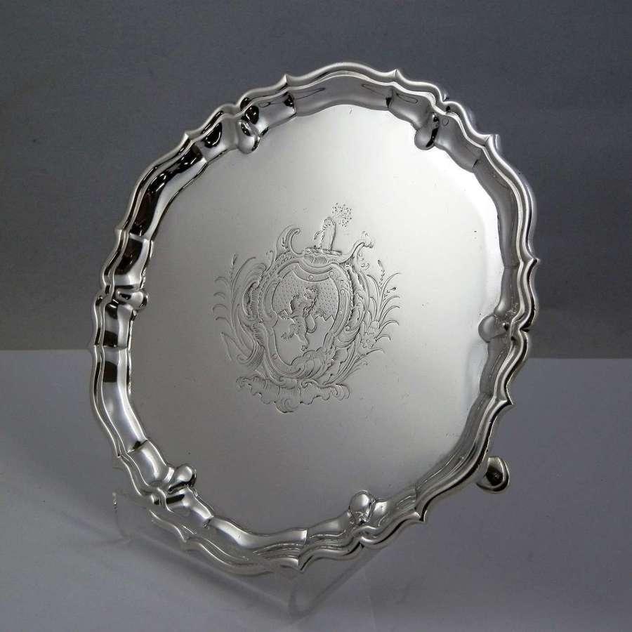George II silver waiter by Robert Abercrombie, London 1737