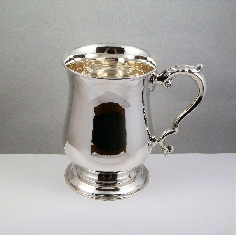 George V silver 1 pint tankard, Birmingham 1934