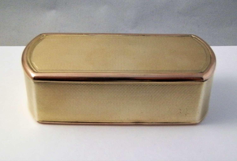 George III silver gilt table snuff box, London 1812