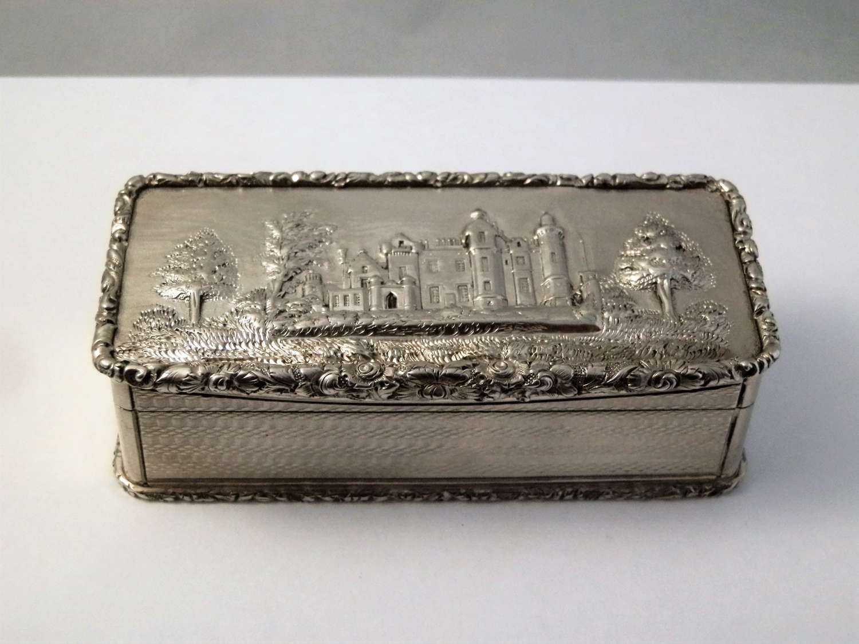 William IV silver snuff box, Abbotsford House, 1836