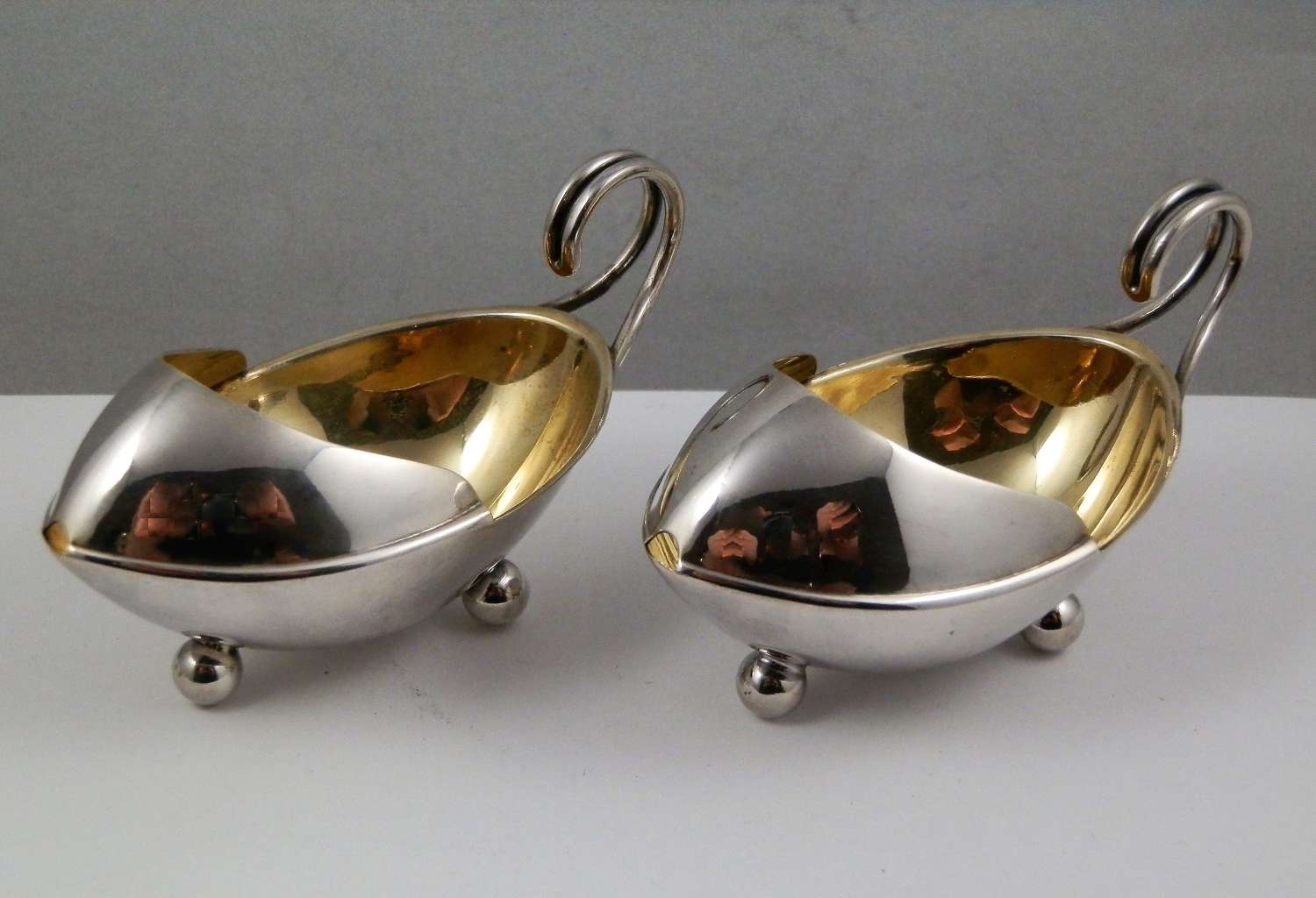 Scottish pair silver feeders, Crichton and Bruce, 1909