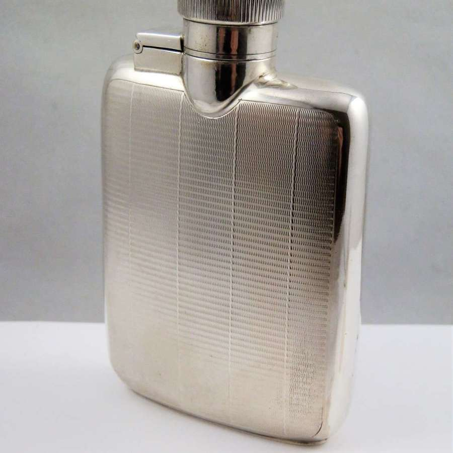 Chester silver hip flask, Asprey & Co, 1939