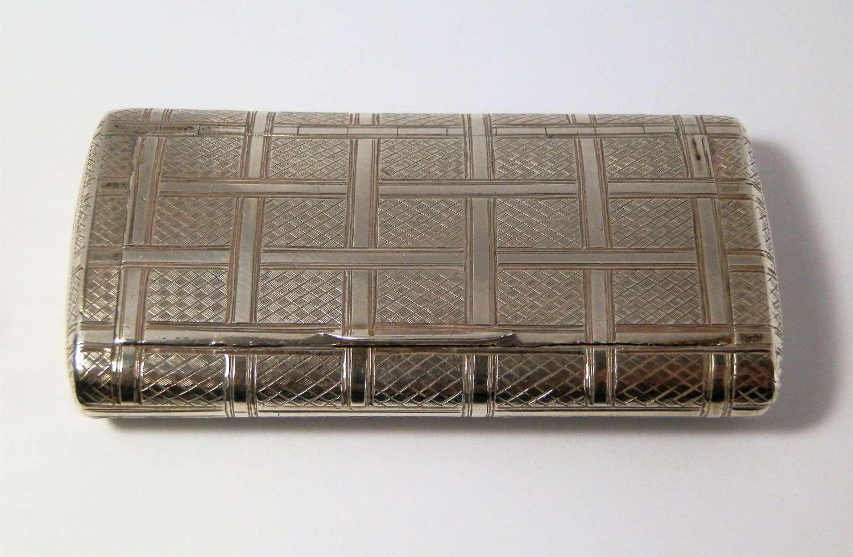 A George III silver pocket snuff box, Wm Edwards, London 1802