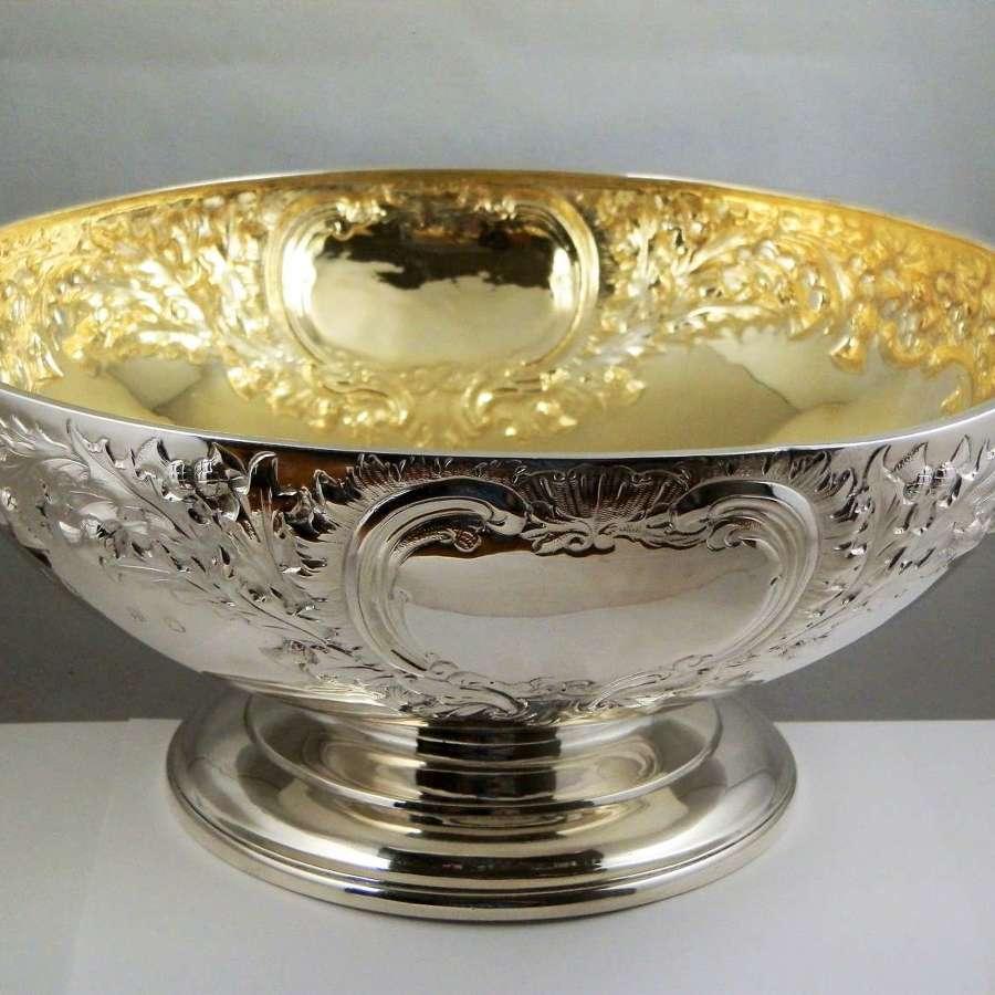 William IV Scottish silver gilt punch bowl, Edinburgh 1833