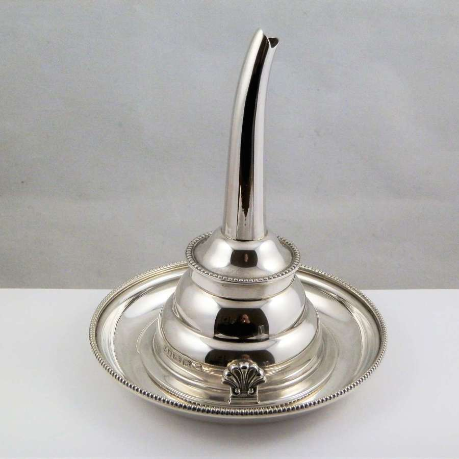Elizabeth II silver wine funnel and stand, Francis Howard London 2006