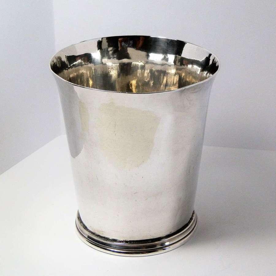 Charles II silver beaker by