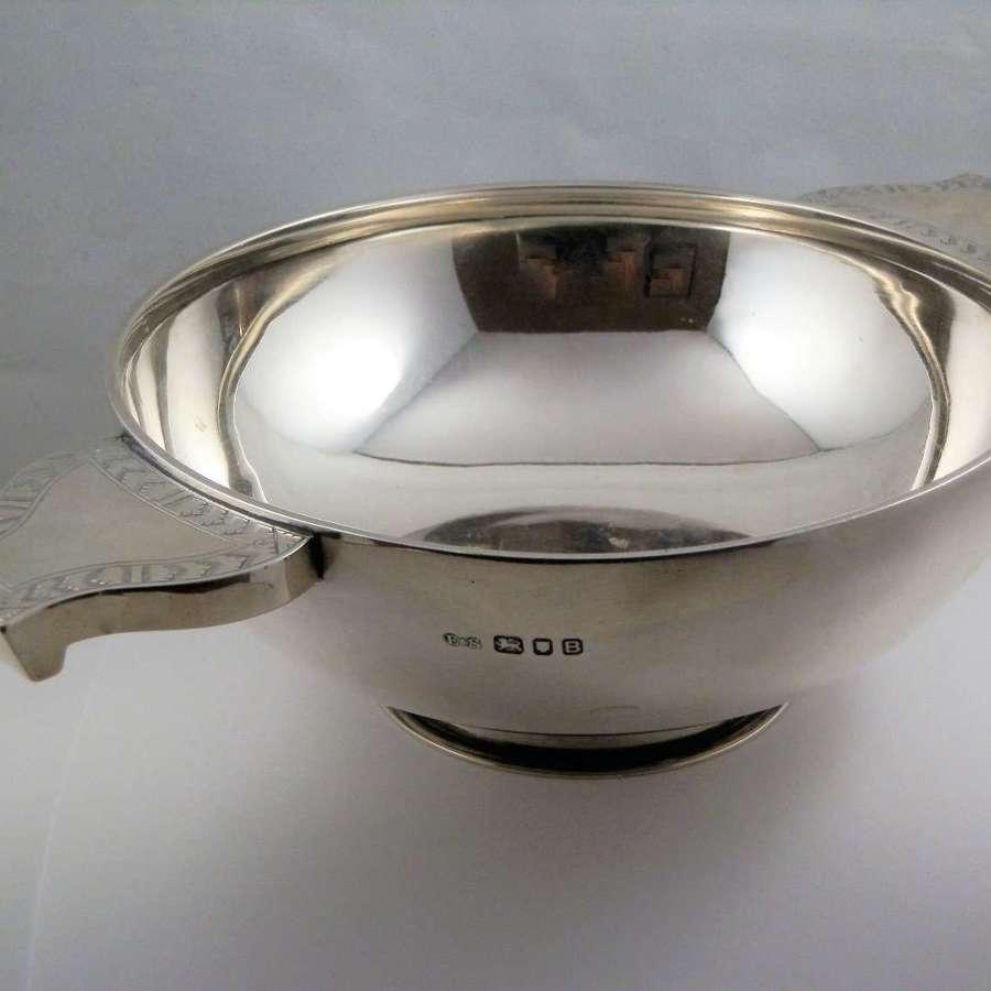 George V very large silver quaich, Edwards&Son of Glasgow 1937