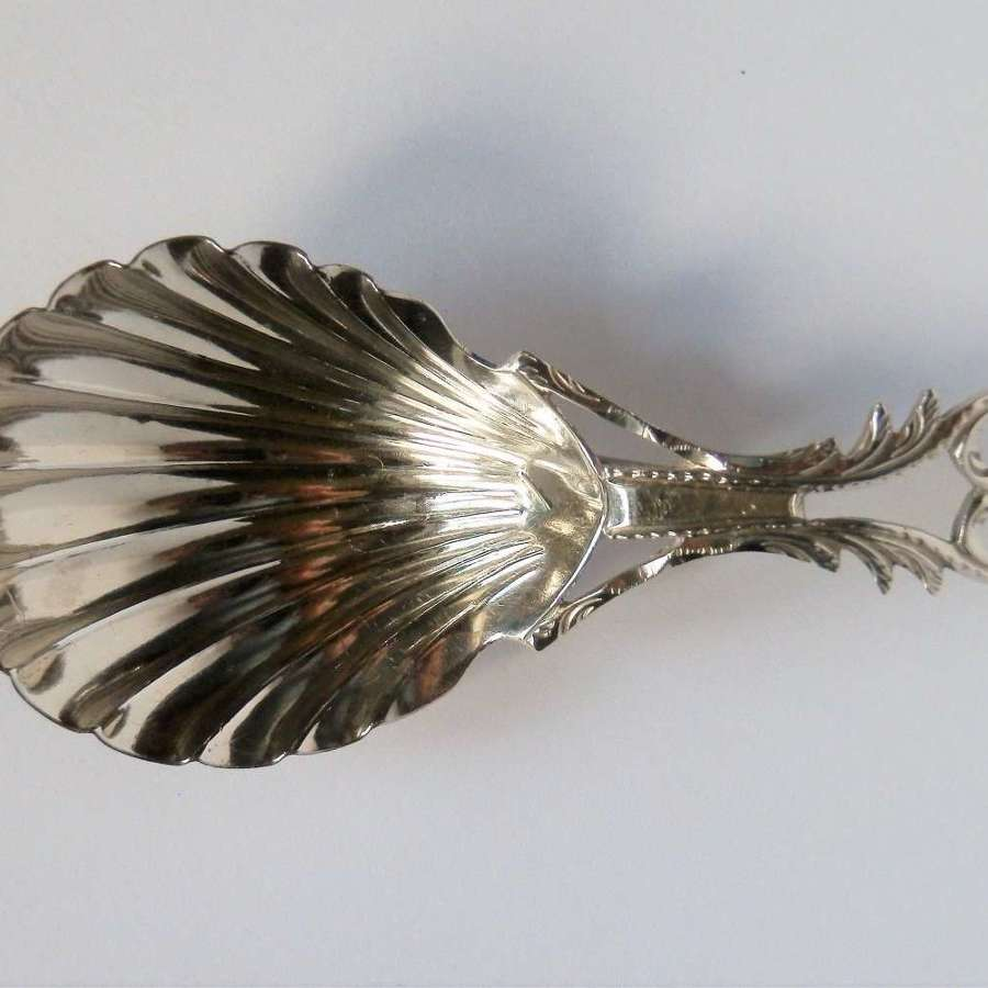 George III silver caddy spoon, William Bennett, London, c 1801