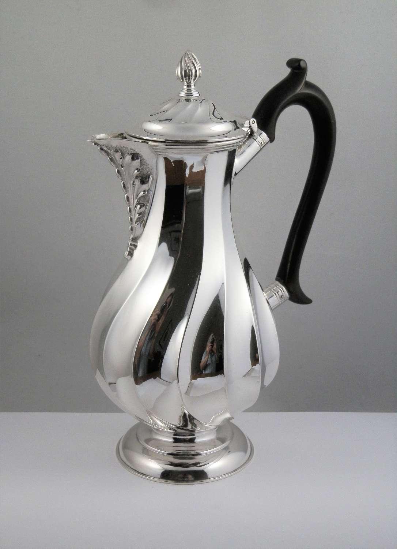 A Victorian silver coffee pot, Wm Hutton, London 1900