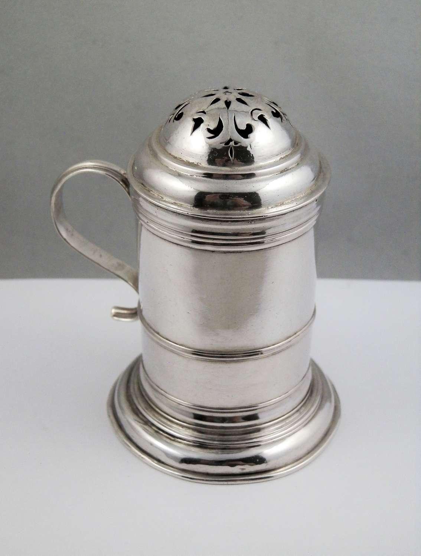 George I Britannia silver kitchen pepper,William Looker London 1718