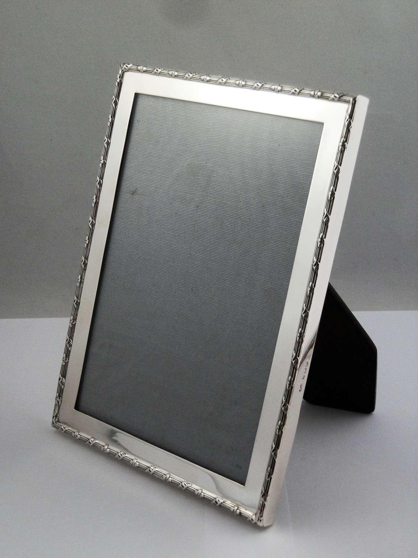 Edwardian silver A5 picture frame, Wm Neale, Birmingham 1910